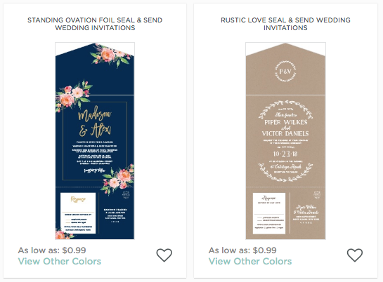 Seal And Send Wedding Invitations.New Trend Alert At Basic Invite
